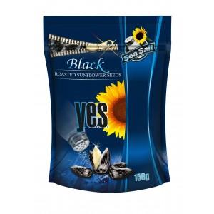 Y.E.S. grauzdētas saulespuķu sēklas ar sāli (melnas),150g