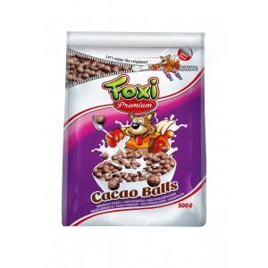 FOXI PREMIUM sausās brokastis-kakao bumbiņas, 500g