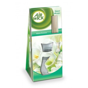 AIR WICK aromātiskie kociņi White Flowers 25ml