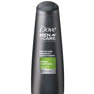 DOVE MEN šampūns fresh clean 2 in 1 400ml