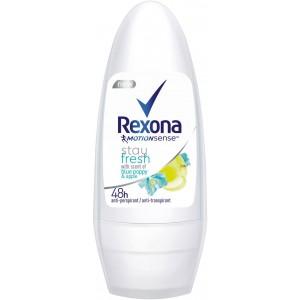 REXONA Blue poppy & Apple roll-on dezodorants sievietēm, 50ml