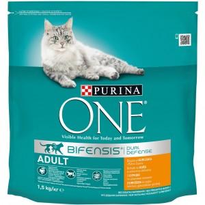 ONE kaķu sausā barība (vista/pilngraudu kvieši) 1.5kg
