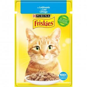 FRISKIES konservs kaķiem (lasis) 85g