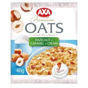 AXA Ātri pagatavojamā auzu p.putra ar saldo krējumu un riekstiem ar karameli,40g