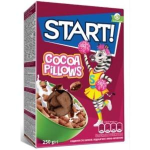 START! Spilventiņi ar kakao pildījumi, 250g