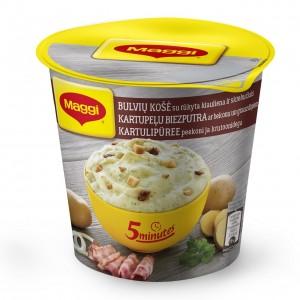 MAGGI 5min. kartupeļu biezenis ar kūpinātu bekona gaļas garšu un grauzdiņiem,53g