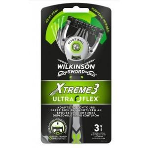 WILKINSON SWORD Xtreme3 Ultra Flex vienriezējie skuvekļi, 3gab