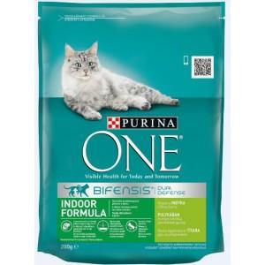 ONE kaķu sausā barība MĀJAS KAĶIEM 200g