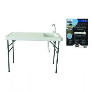Kempinga galds Atom 115x60.5x86cm balts