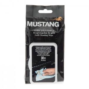 Mitrās salvetes Mustang 25x25cm 10gab.