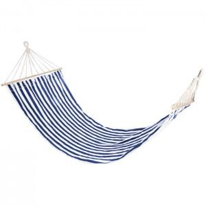 Šūpuļtīkls 4living Hammock Stripe zils-balts 200x80cm