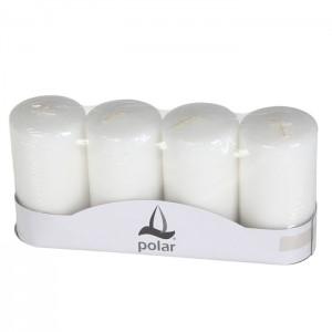 Adventes sveces Polar baltas 5x10cm 4gab.
