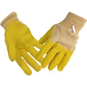 Cimdi tekstila ar dzelt.lateksa pārkl.10.izm.