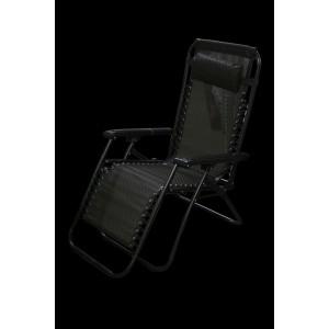 Krēsls atpūtas 177x61x110cm melnbalts