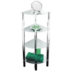 Plaukts stūra 4-stāvīgs stikla