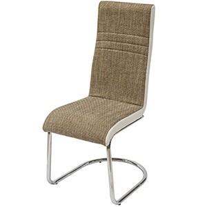 Krēsls THEA 104x58x44cm brūns/balts