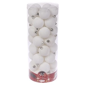 Egļu bumbas d6cm baltas 40gab.
