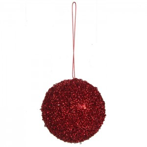 Egļu rotājums sarkans d8cm
