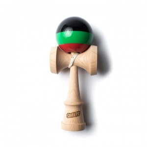 Kendama Sweets Prime - Stripes - Black/Green/Red