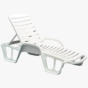 Sauļošanās gulta Lettino 71x192x100cm balta