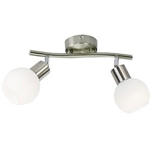 Spotlampa -LOXY 2x3W LED mat.niķeļa