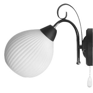 Sienas lampa-HUAN 40W E14 melna/hroma