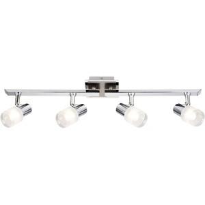 Spotlampa -LEA 4x3W LED E14 mat.niķeļa/hroma