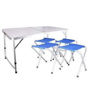 Kempinga mēbeļu komplekts, galds + 4krēsli