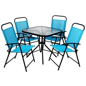 Dārza mēbeļu komplekts galds + 4 krēsli