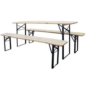 Mēbeļu komplekts galds+2 soli