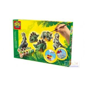 SES Creative ģipša figūras veidošanas komplekts Dinozauri