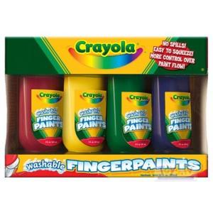 Crayola Izmazgājamas pirkstiņkrāsas, 4 gb.