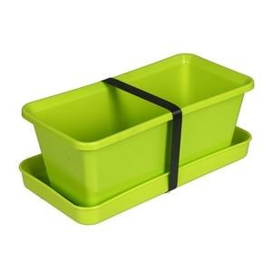 Puķu kaste ar paliktni 20cm g.zaļa