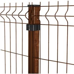 Paneļa žogs 1.53x2.5m brūns (4.0x200x50mm)