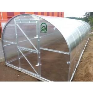 Pagarinājums KLASIKA, 2m ar 6mm polikarbonātu, bez priekšējām un aizmugurējām sienām