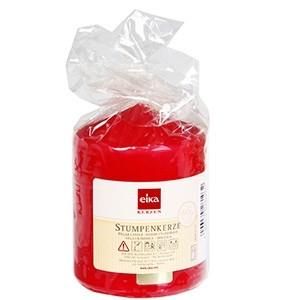 Svece cilindrs 8x6cm sarkans