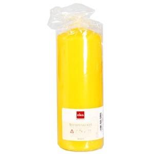 Svece cilindrs 16x6cm dzeltens