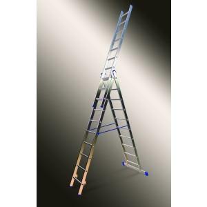 Kāpnes alumīnija VHR3x15 pak. garums 9.45m (3x3.99m) Elkop PRO