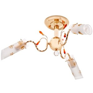 Griestu lampa-3x40W E14 zelta