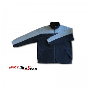 Flīsa jaka ar ravejsledzēju pelēka M