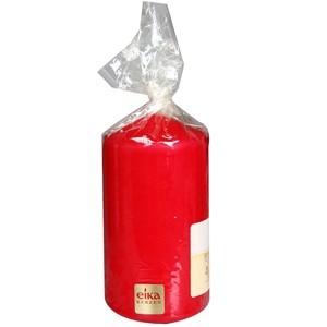 Svece cilindrs 11x6cm sarkana