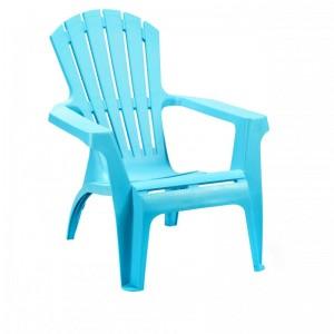 Krēsls plastmasas Dolomati gaiši zils