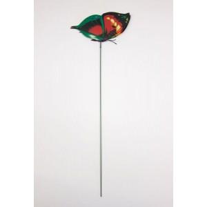 Dārza dekors taurenis dubults 12cm uz kociņa, plasmasas