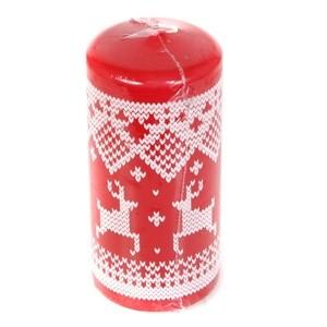 Svece cilindrs 7x15cm sarkans