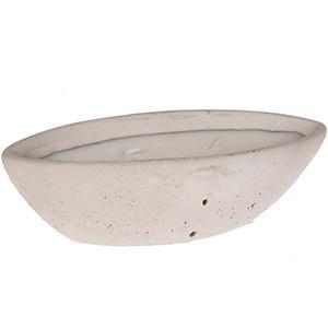 Āra svece betona laiviņā 20.5x6cm balta