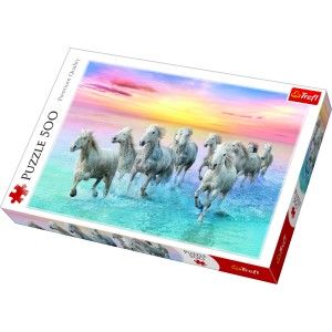 """Trefl Puzle """"Balti zirgi"""", 500 gab."""