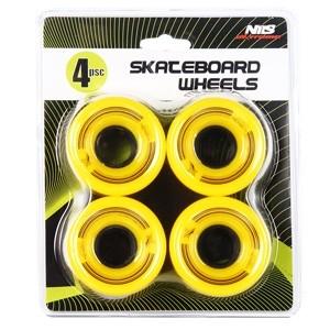 Riteņi NILS 60x45mm dzelteni 4gab.