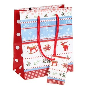 Dāvanu maisiņš Ziemassvētku 11x6x13,5cm