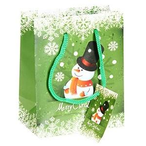 Dāvanu maisiņš Sniegavīrs 11x6x13.5cm