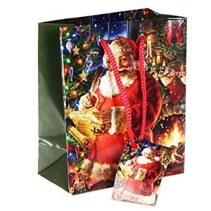 Dāvanu maisiņš Santa 11x6x13.5cm